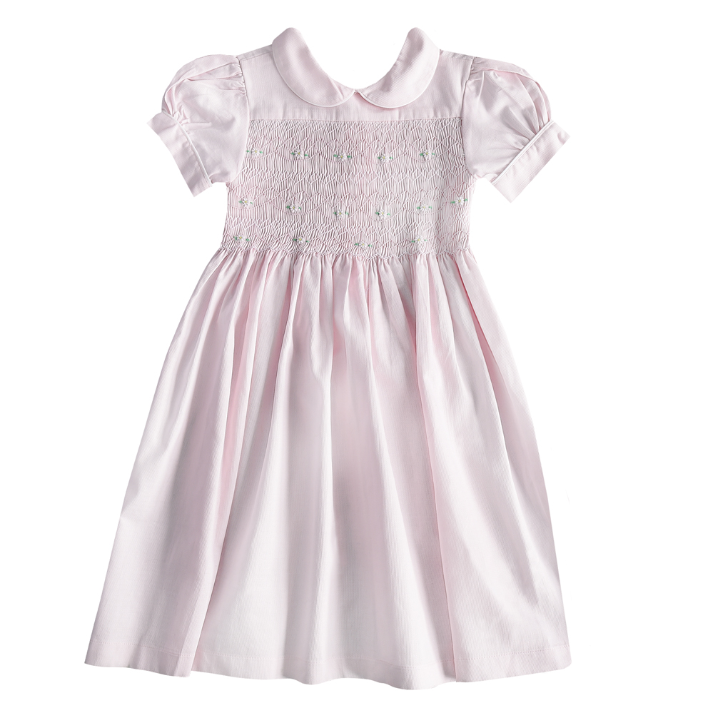 Robe rose col claudine