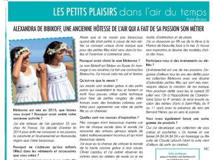 ARTICLE LA GAZETTE FLEURIE PARU LE 31 MAI 2019